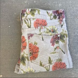 Pilcro and the Letterpress Jeans - Pilcro and the letterpress floral skinny jeans.
